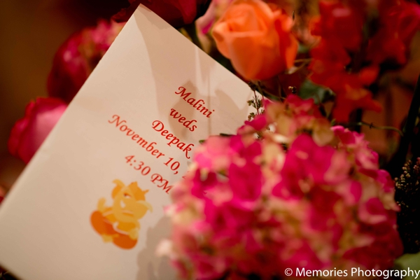 Indian wedding ceremony program floral in Bridgewater, New Jersey Indian Wedding by Memories Photography