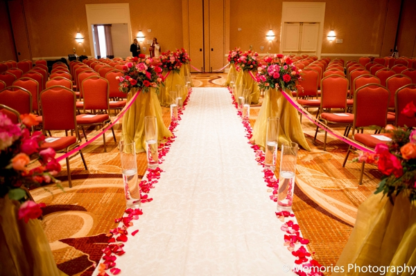 Indian wedding ceremony venue decor in Bridgewater, New Jersey Indian Wedding by Memories Photography