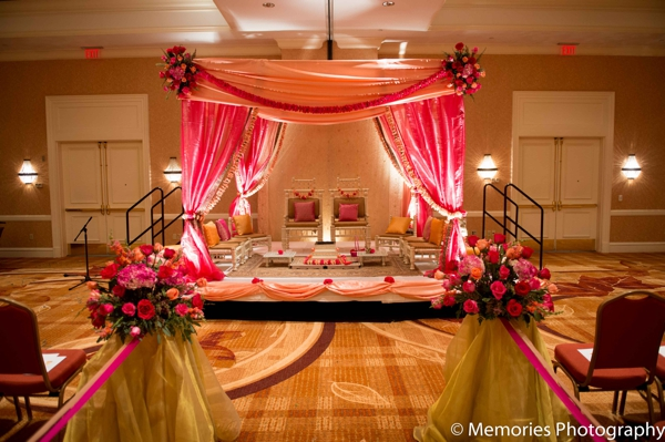 Indian wedding ceremony venue mandap in Bridgewater, New Jersey Indian Wedding by Memories Photography