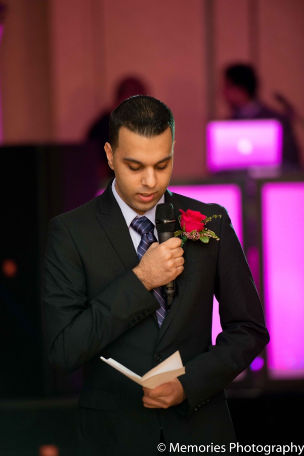 Indian wedding guests speech reception in Bridgewater, New Jersey Indian Wedding by Memories Photography
