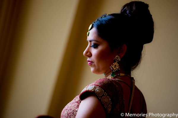 Indian wedding hair and makeup in Bridgewater, New Jersey Indian Wedding by Memories Photography