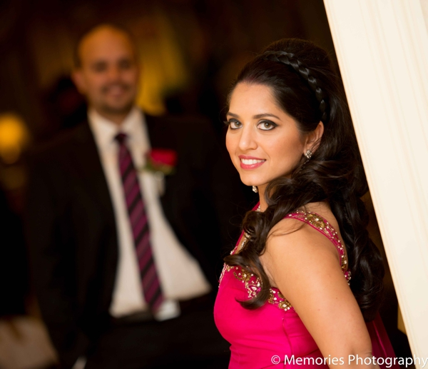 Indian wedding portrait reception bride groom in Bridgewater, New Jersey Indian Wedding by Memories Photography