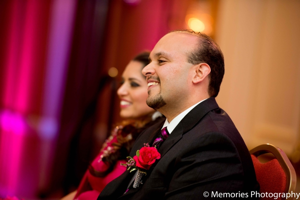 Indian wedding reception bride groom in Bridgewater, New Jersey Indian Wedding by Memories Photography
