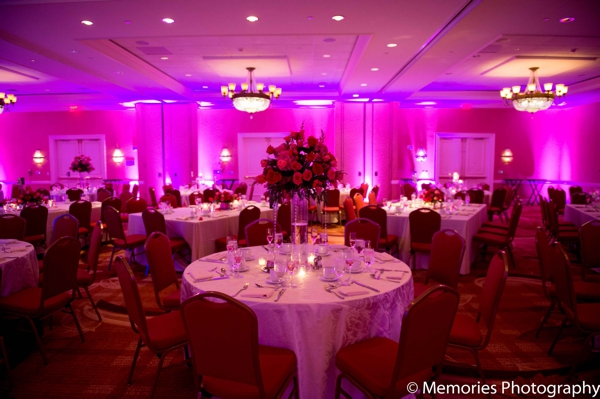 hot pink,Lighting,reception venue,lighting at wedding reception,table setting at wedding reception,Memories Photography,decor at wedding reception