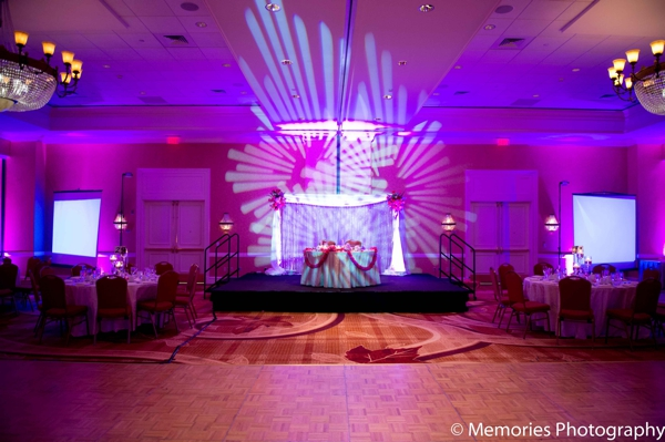 Indian wedding venue lighting in Bridgewater, New Jersey Indian Wedding by Memories Photography