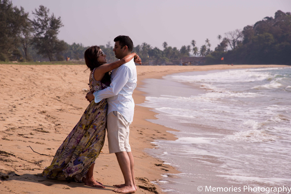 Indian bride groom beach photos in Goa, India Indian Wedding by Memories Photography