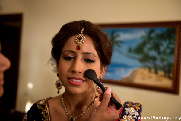 Indian wedding bridal hair makeup in Goa, India Indian Wedding by Memories Photography