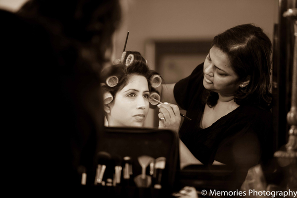 Indian wedding bridal preparations in Goa, India Indian Wedding by Memories Photography