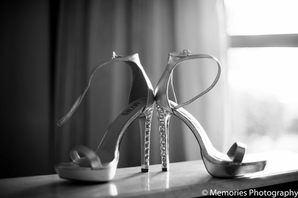 Indian wedding bridal shoes in Goa, India Indian Wedding by Memories Photography
