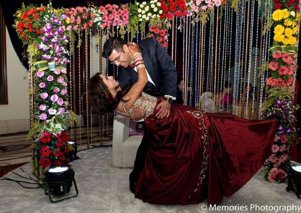 Indian wedding bride groom reception in Goa, India Indian Wedding by Memories Photography