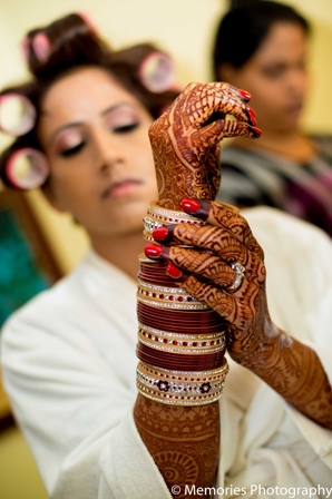 Indian wedding bride traditional bangles in Goa, India Indian Wedding by Memories Photography