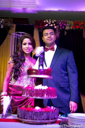 Indian wedding cake bride groom in Goa, India Indian Wedding by Memories Photography