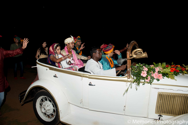 Indian wedding ceremony transportation in Goa, India Indian Wedding by Memories Photography