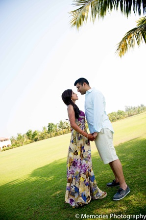 Indian wedding couple portraits in Goa, India Indian Wedding by Memories Photography