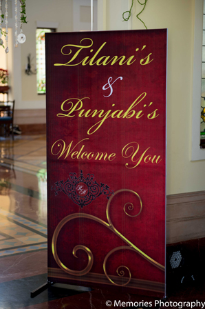 Indian wedding decor signage in Goa, India Indian Wedding by Memories Photography