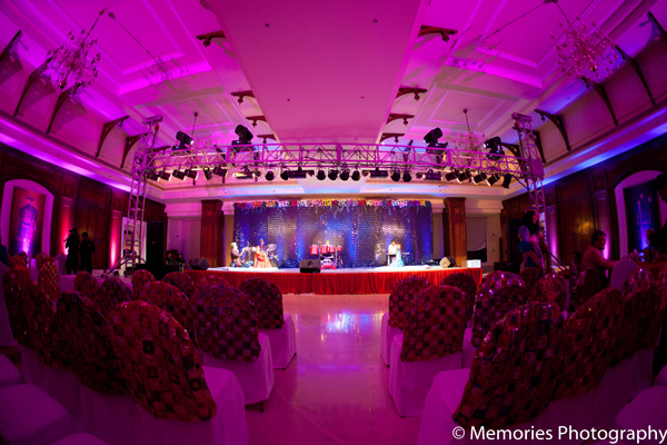 Indian wedding lighting design in Goa, India Indian Wedding by Memories Photography