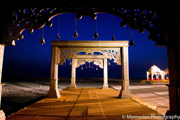 Indian wedding outdoor mandap decor in Goa, India Indian Wedding by Memories Photography