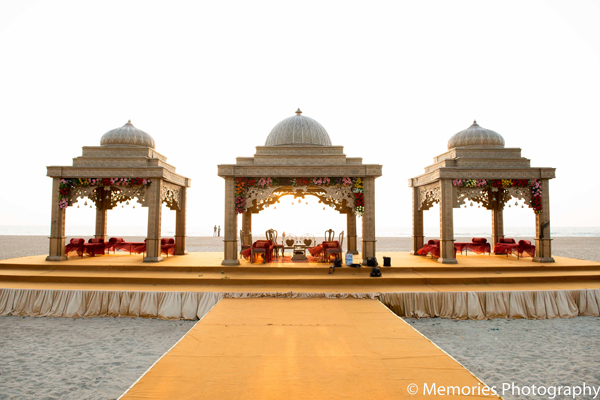 Indian wedding outdoor mandap design in Goa, India Indian Wedding by Memories Photography