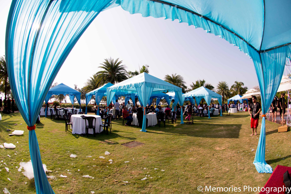 Indian wedding outdoor mehndi party in Goa, India Indian Wedding by Memories Photography