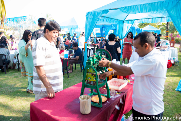 Indian wedding outdoor party catering in Goa, India Indian Wedding by Memories Photography