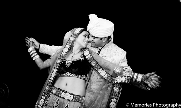 Indian wedding photos night in Goa, India Indian Wedding by Memories Photography