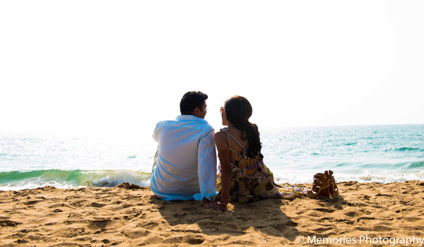 Indian wedding portraits beach in Goa, India Indian Wedding by Memories Photography
