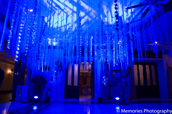 Indian wedding reception decor lighting in Goa, India Indian Wedding by Memories Photography