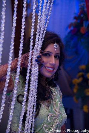Indian wedding sangeet bridal fashion in Goa, India Indian Wedding by Memories Photography