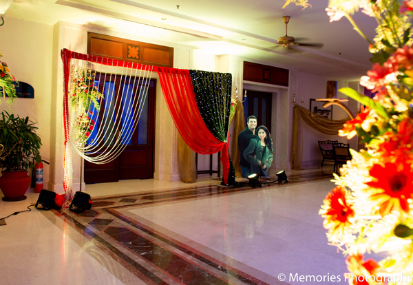 Indian wedding sangeet decor in Goa, India Indian Wedding by Memories Photography