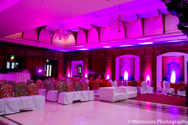 Indian wedding sangeet lighting design decor in Goa, India Indian Wedding by Memories Photography