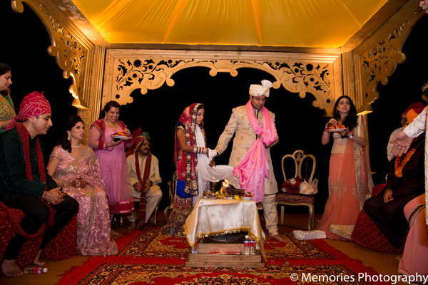 Lighting,ceremony,mandap,traditional indian wedding,indian wedding traditions,Memories Photography