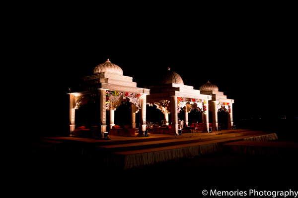 Indian wedding traditional mandap in Goa, India Indian Wedding by Memories Photography