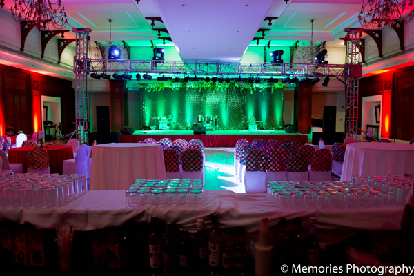 Indian wedding venues lighting design in Goa, India Indian Wedding by Memories Photography