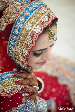 Indian bridal fashion jewelry outfit in San Antonio, Texas Sikh Wedding by MnMfoto