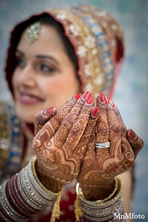 Indian bridal fashion mehndi jewelry in San Antonio, Texas Sikh Wedding by MnMfoto