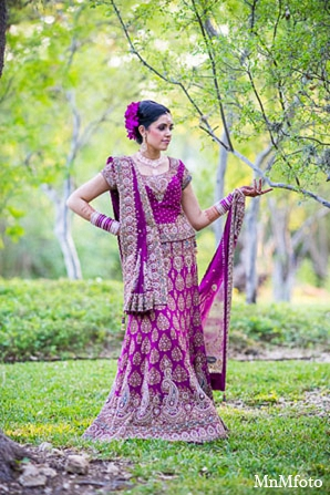 Indian bridal fashion reception clothing in San Antonio, Texas Sikh Wedding by MnMfoto