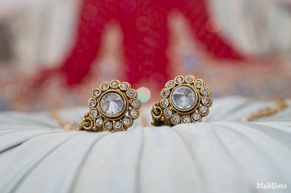 Indian wedding bridal jewelry bride in San Antonio, Texas Sikh Wedding by MnMfoto