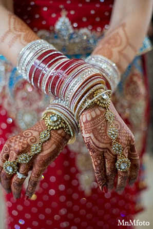 Indian wedding bridal mehndi jewelry in San Antonio, Texas Sikh Wedding by MnMfoto