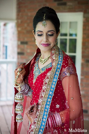 Indian wedding bride clothing makeup in San Antonio, Texas Sikh Wedding by MnMfoto