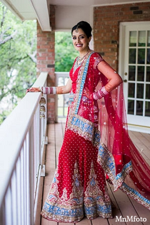 Indian wedding bride hair makeup lengha in San Antonio, Texas Sikh Wedding by MnMfoto