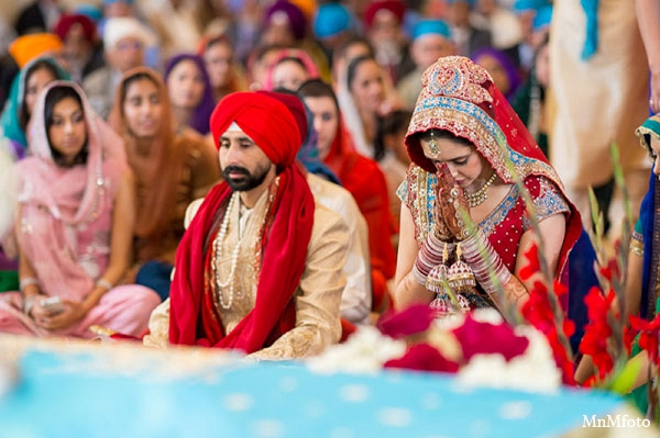 Indian wedding ceremony bride groom in San Antonio, Texas Sikh Wedding by MnMfoto