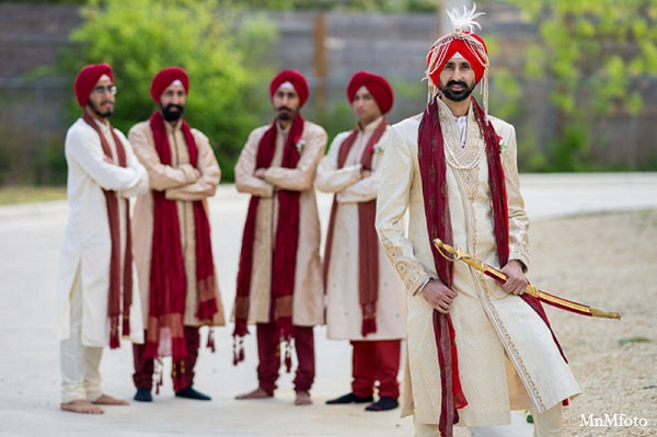 Indian wedding groomsmen fashion photography in San Antonio, Texas Sikh Wedding by MnMfoto