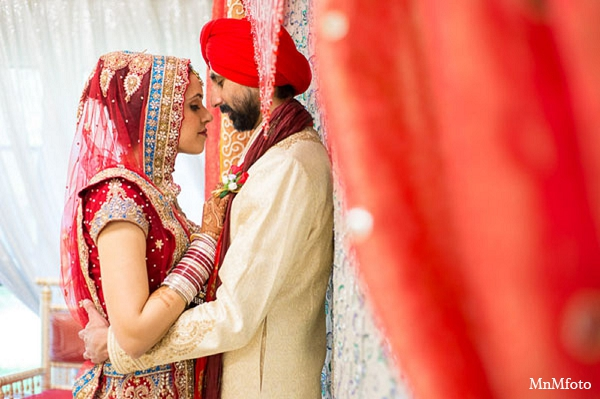 Indian wedding portraits bride groom in San Antonio, Texas Sikh Wedding by MnMfoto