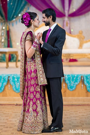 Indian wedding reception bride groom fashion in San Antonio, Texas Sikh Wedding by MnMfoto