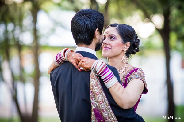 Indian wedding reception bride groom photography in San Antonio, Texas Sikh Wedding by MnMfoto