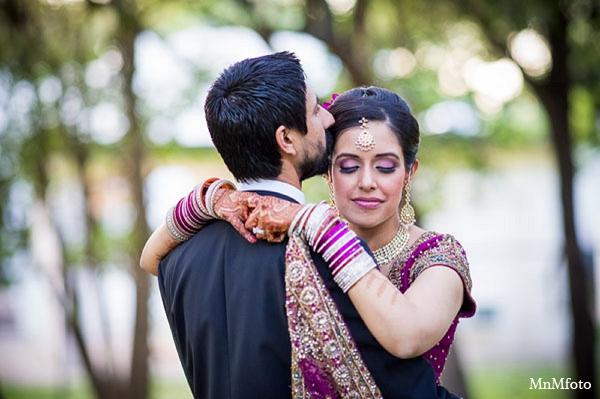 Indian wedding reception bride groom portrait in San Antonio, Texas Sikh Wedding by MnMfoto
