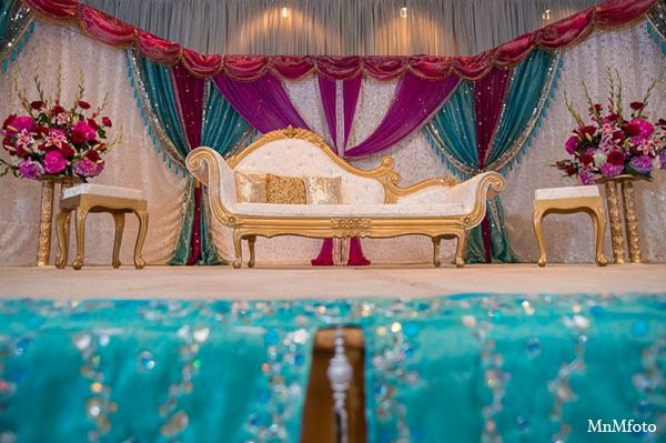Indian wedding reception decor ideas in San Antonio, Texas Sikh Wedding by MnMfoto