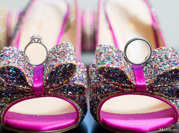 Indian wedding bridal fashions sparkly shoes in Alexandria, VA Indian Wedding by MnMfoto