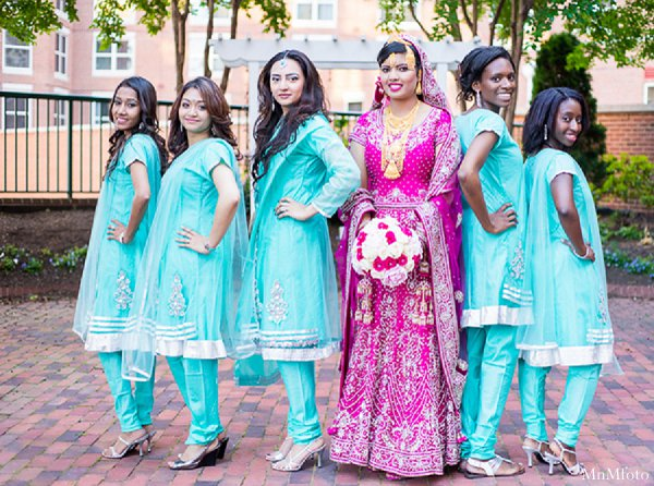Indian wedding bridal party saris in Alexandria, VA Indian Wedding by MnMfoto