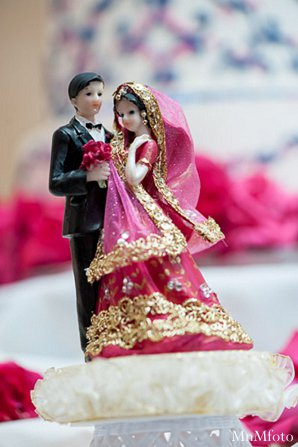 Indian wedding cake topper details catering in Alexandria, VA Indian Wedding by MnMfoto
